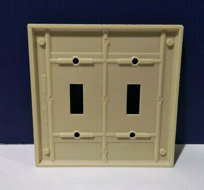 2-PK Leviton 2-Gang Light Switch Wall Cover Plastic
