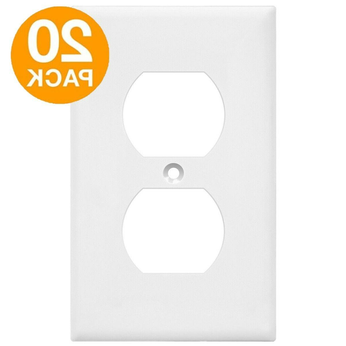 20 pack duplex receptacle wall plate 1
