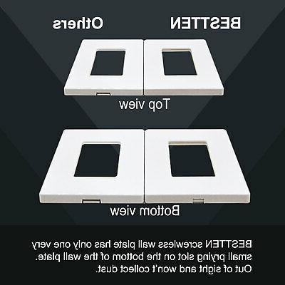 20PK Screwless Wall USWP6 White