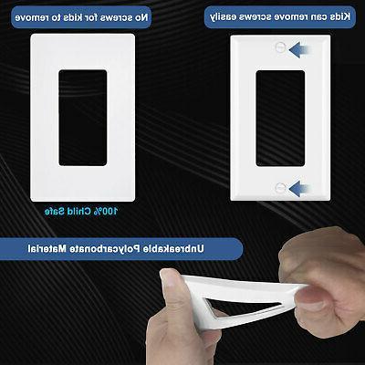 20PK Wall Plate White Decorator