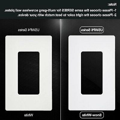 20PK Wall Plate Snow White Outlet