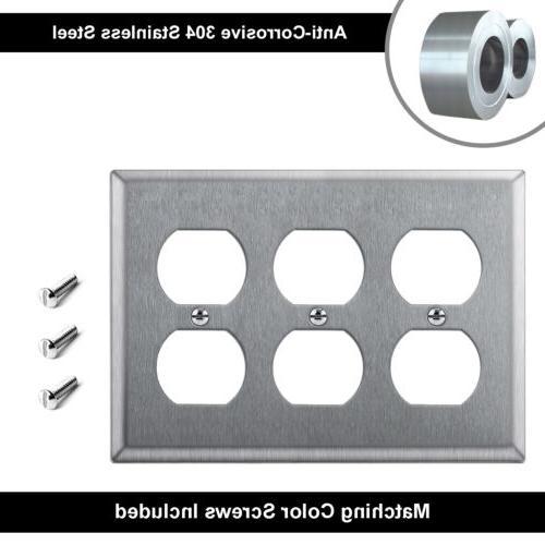 2PK Metal Decor/Duplex/Toggle/Blank Steel Cover UL