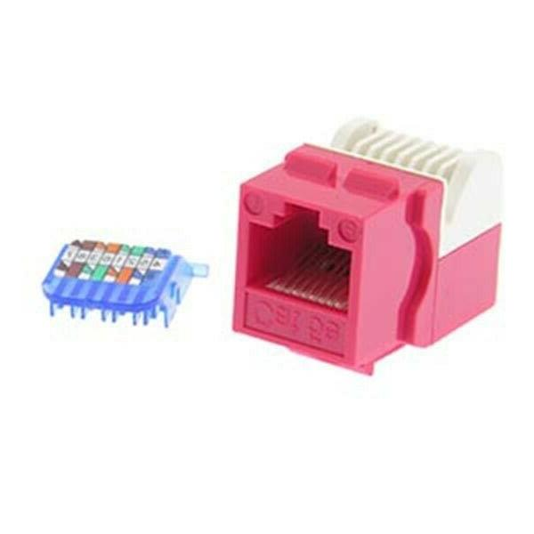 Network LAN Jack for Plate Red
