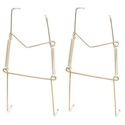 2x Plate Hangers Flexible Plates