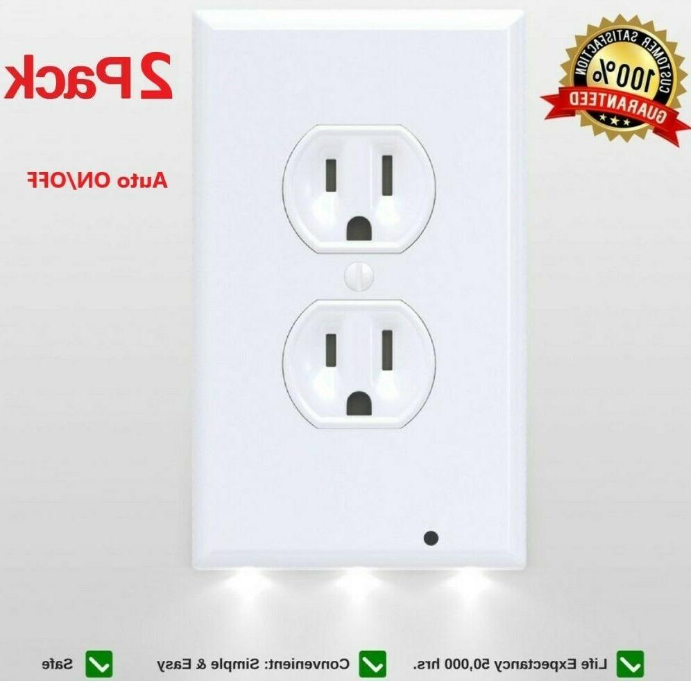 2x outlet wall plate led night lights