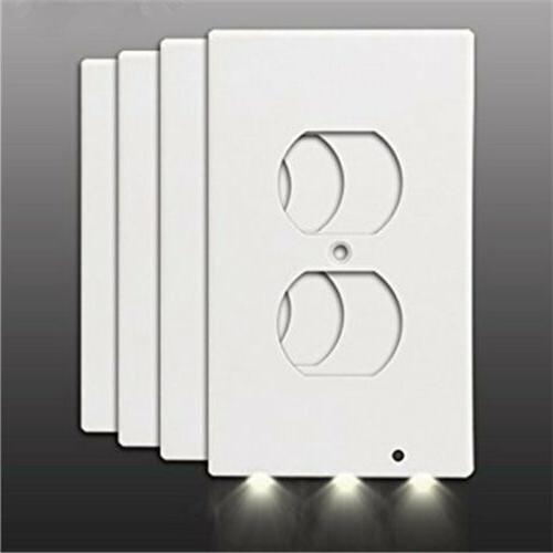 3 LED Night Light Duplex Plate White Cover