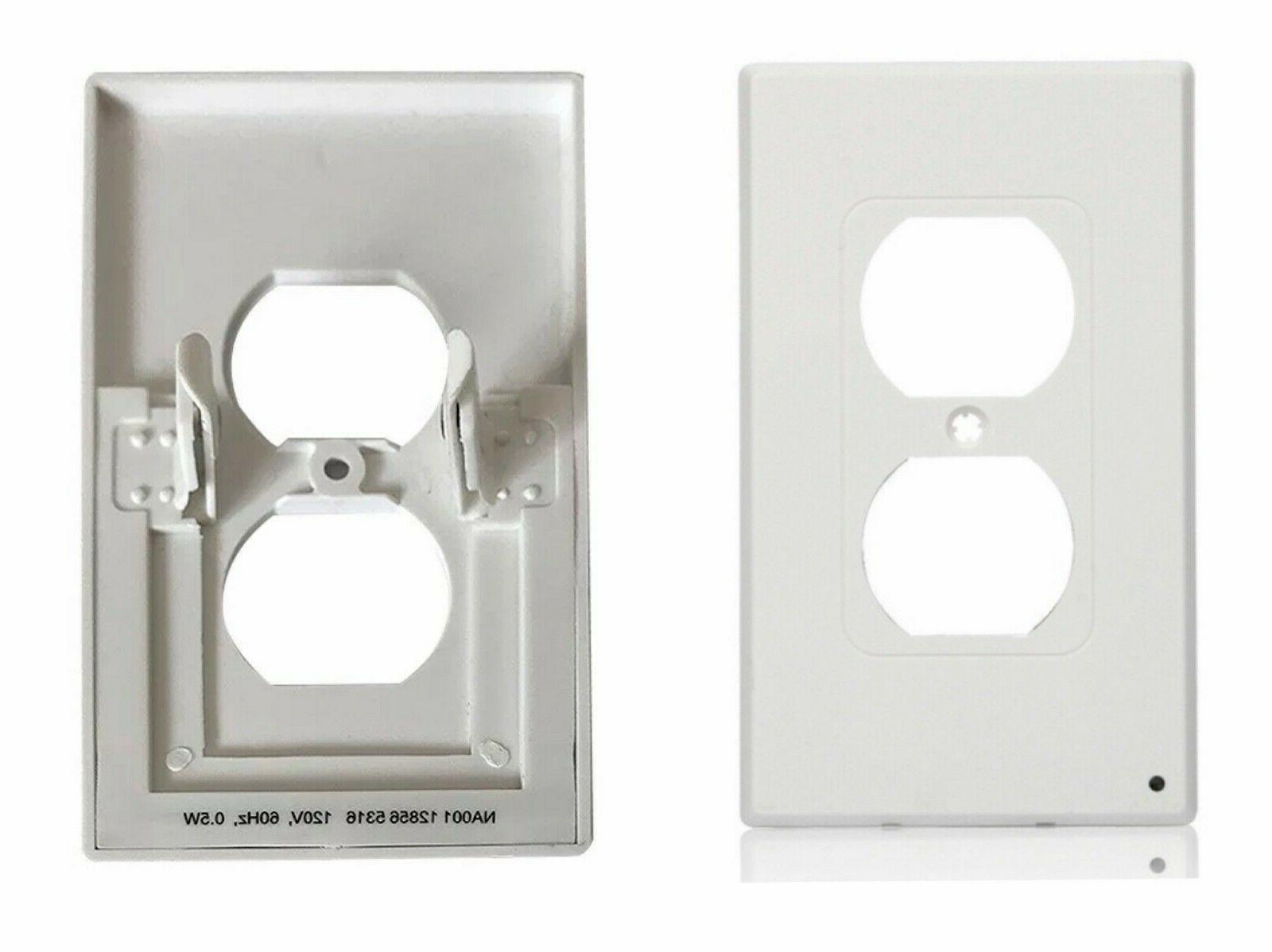 3-Pack wall plate night lights sensor