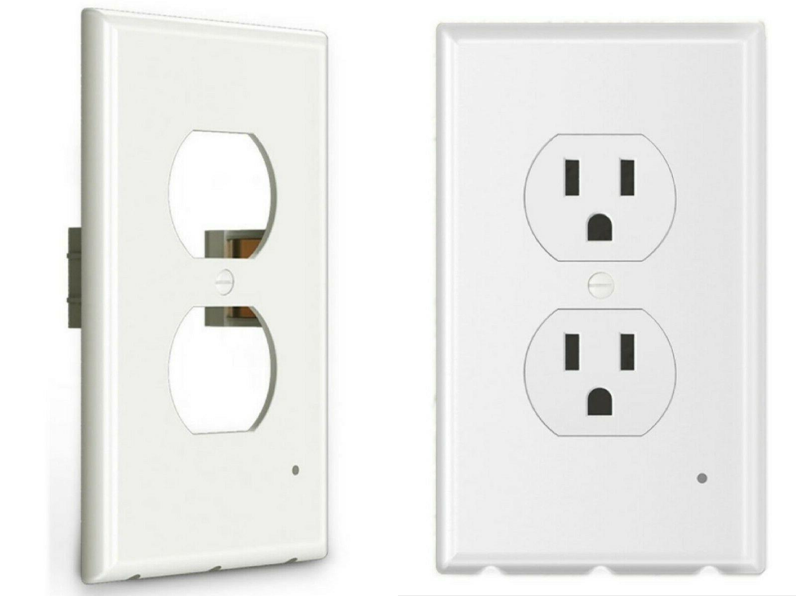 5 pack outlet wall plate with led