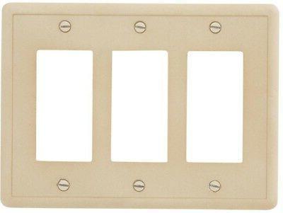 3 switch wall plate travertine