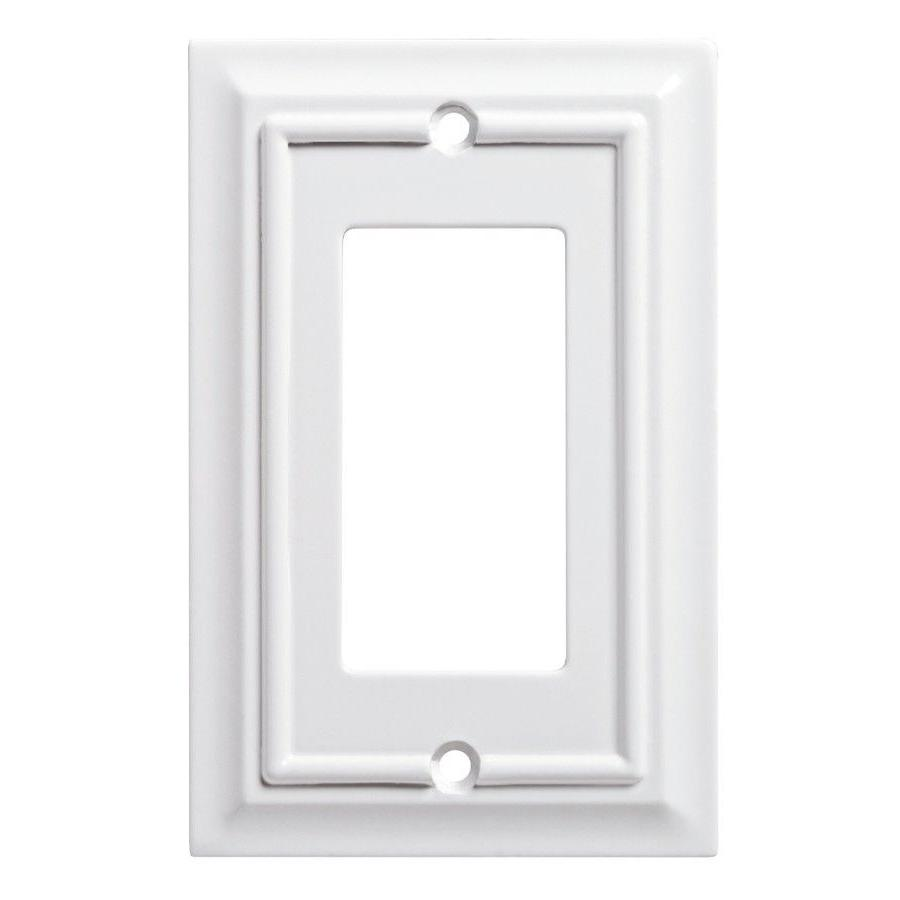 Gang Pure White Wall Plate