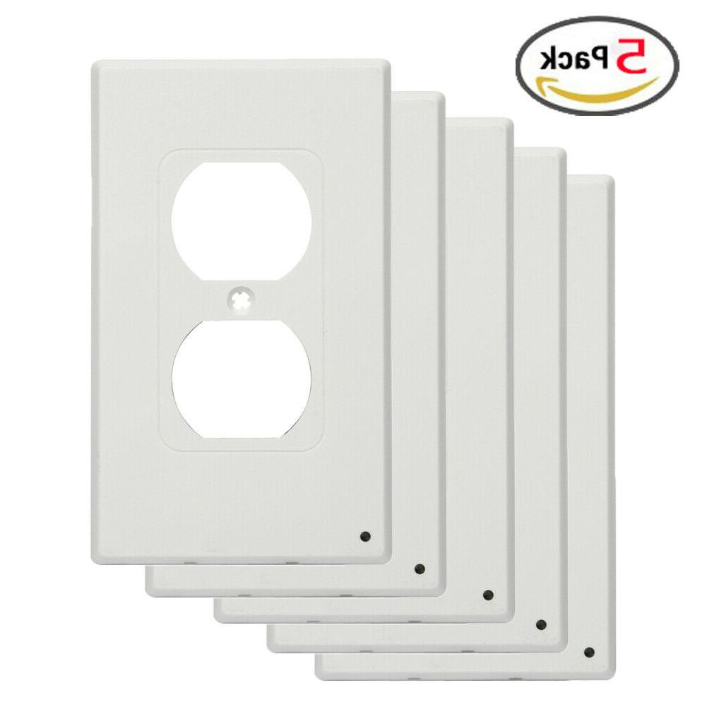 5 pack durable switch plate duplex rocker