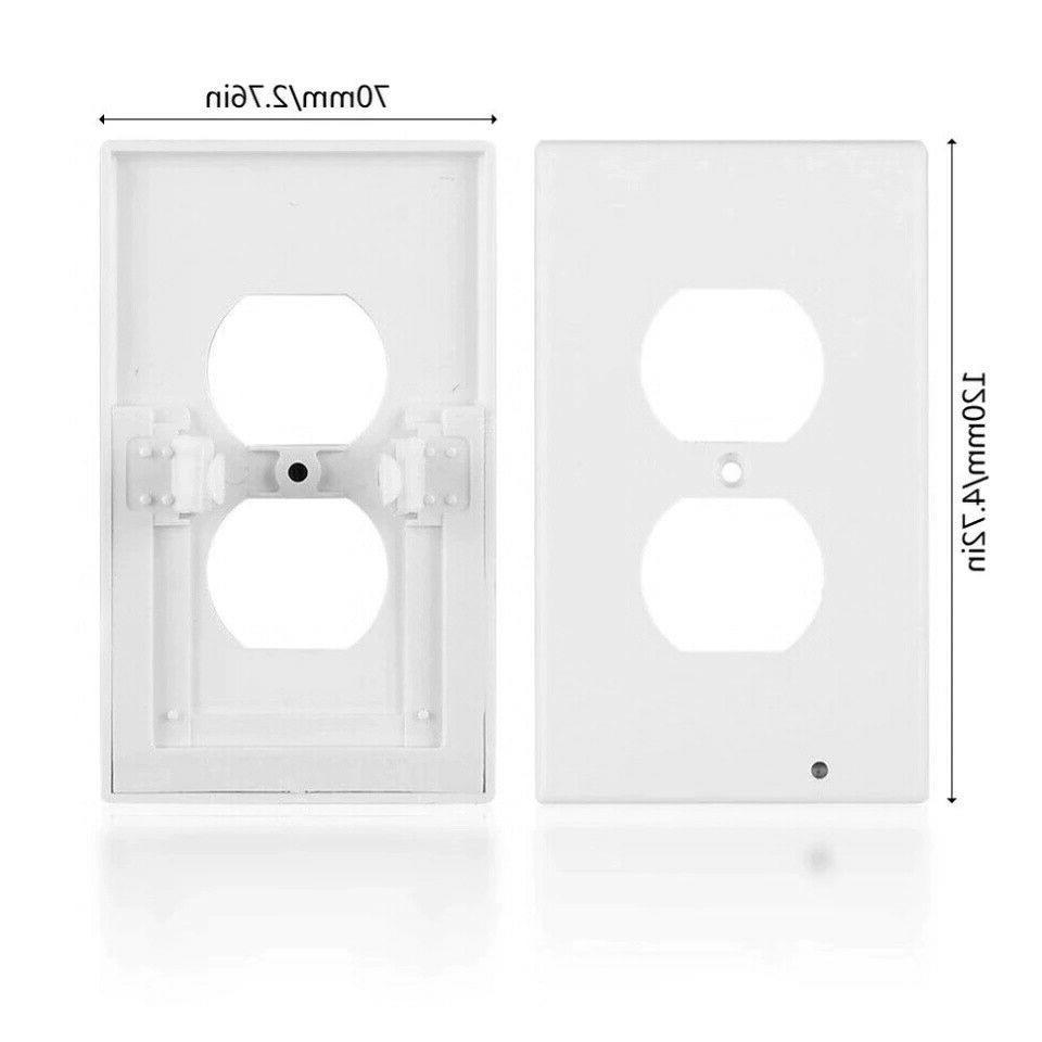 5 Outlet Plate Led Lights Cover Light Sensor