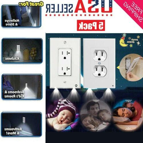 5 pack outlet wall plate led night