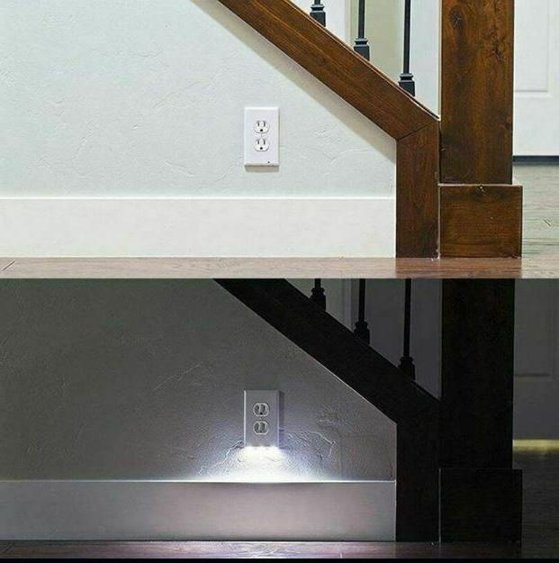 5 Wall Plate Outlet Cover LED Lights Ambient Light