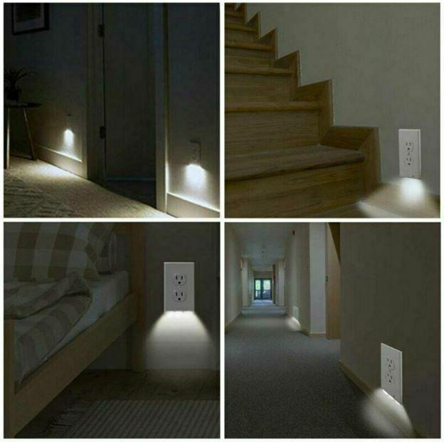 5 PCS Plate Outlet Cover LED
