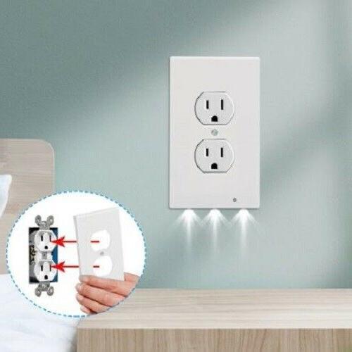 5 PCS Duplex Plate Cover LED Lights Ambient