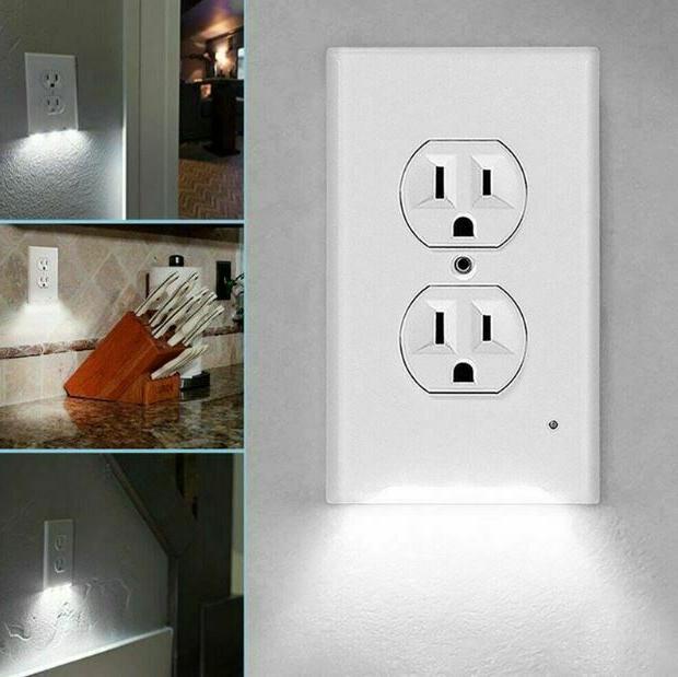 5 Wall Plate LED Night Light Sensor