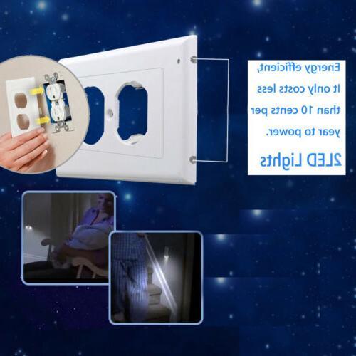 5 PCS Outlet Plate Led Lights Cover Light Sensor