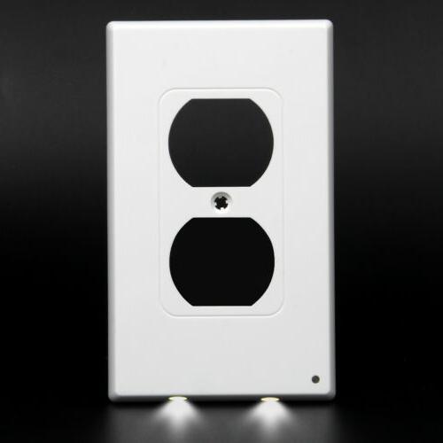 10 Packs Night Angel Light Sensor LED Outlet Cover Wall Plug