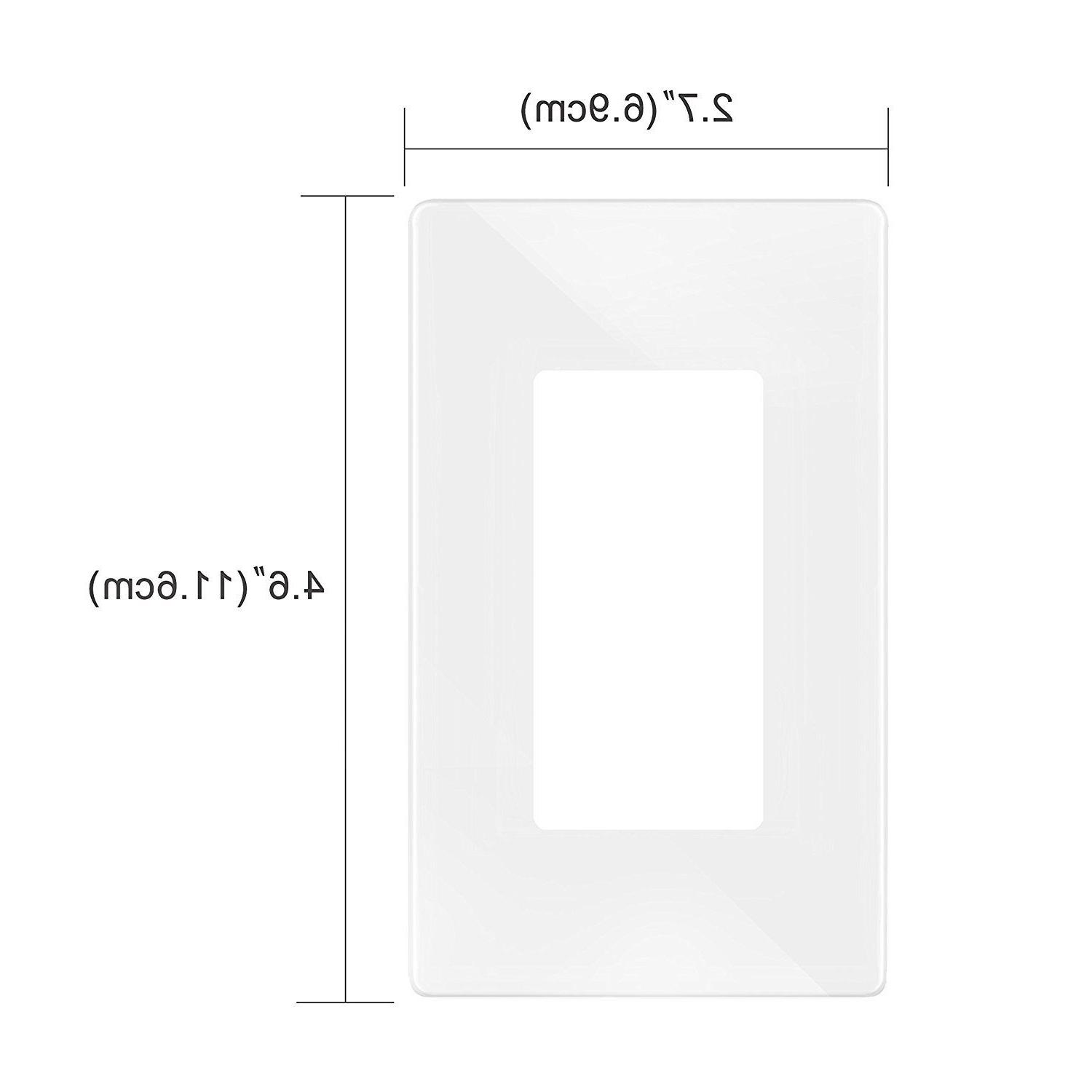 30 Pack Plate 1-Gang Decorator /GFCI/ Cover,