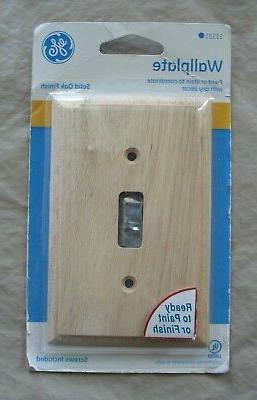 51581 single switch wall plate solid oak