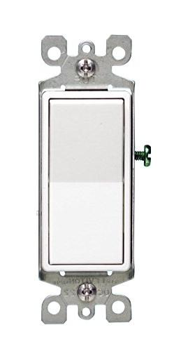 Leviton 5603-2WM 15 Amp, 120/277V Decora Rocker 3-Way AC Qui