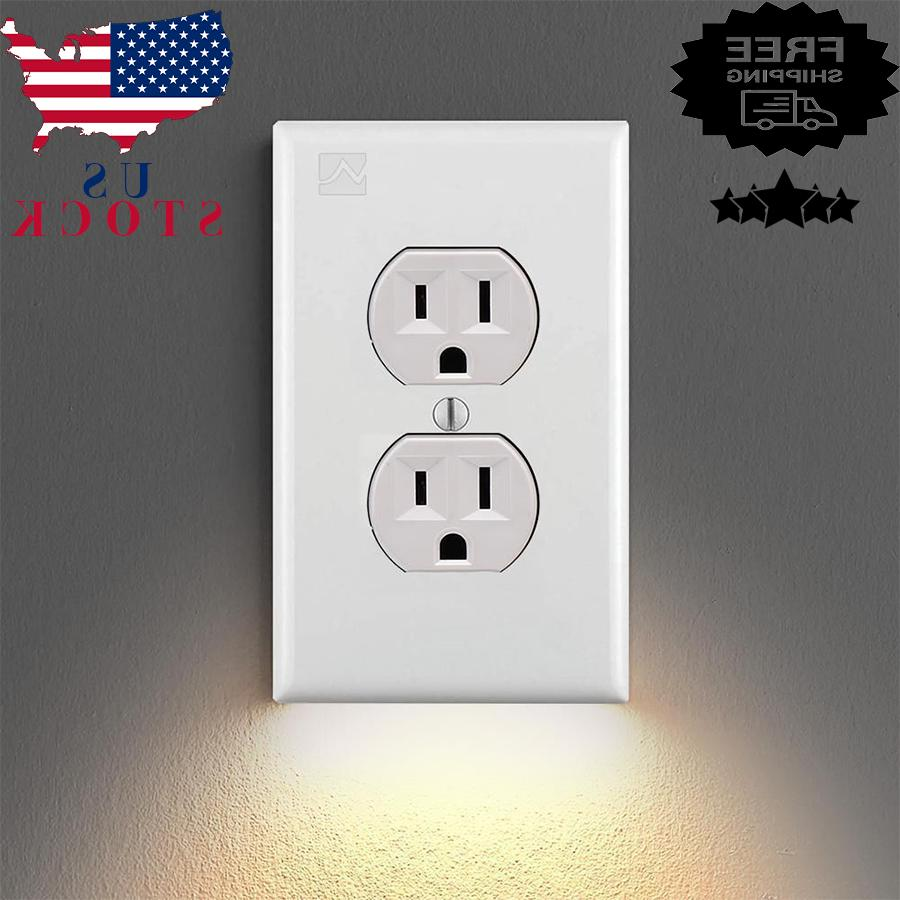 5pcs outlet wall plate with led night