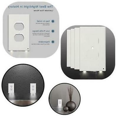 5x Outlet Led Night Duplex With Sensor US