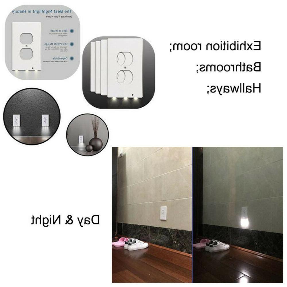 5PCS Outlet Wall Led Lights Duplex Sensor