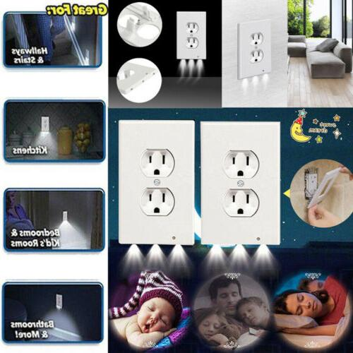 5x outlet wall plate led night lights