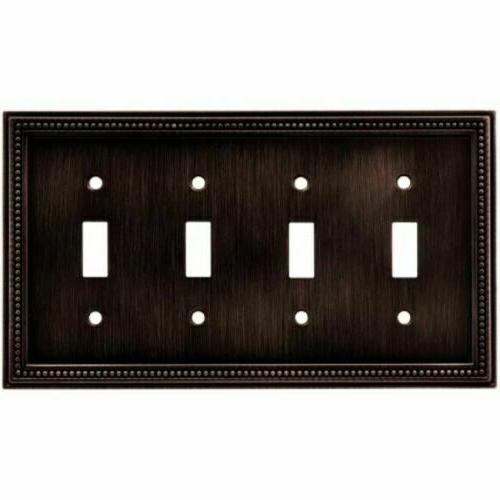 Brainerd 64404 Beaded Quad Toggle Switch Wall Plate Venetian