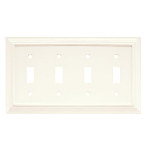 Brainerd 64536 Wood Architectural Quad Toggle Switch Wall Pl