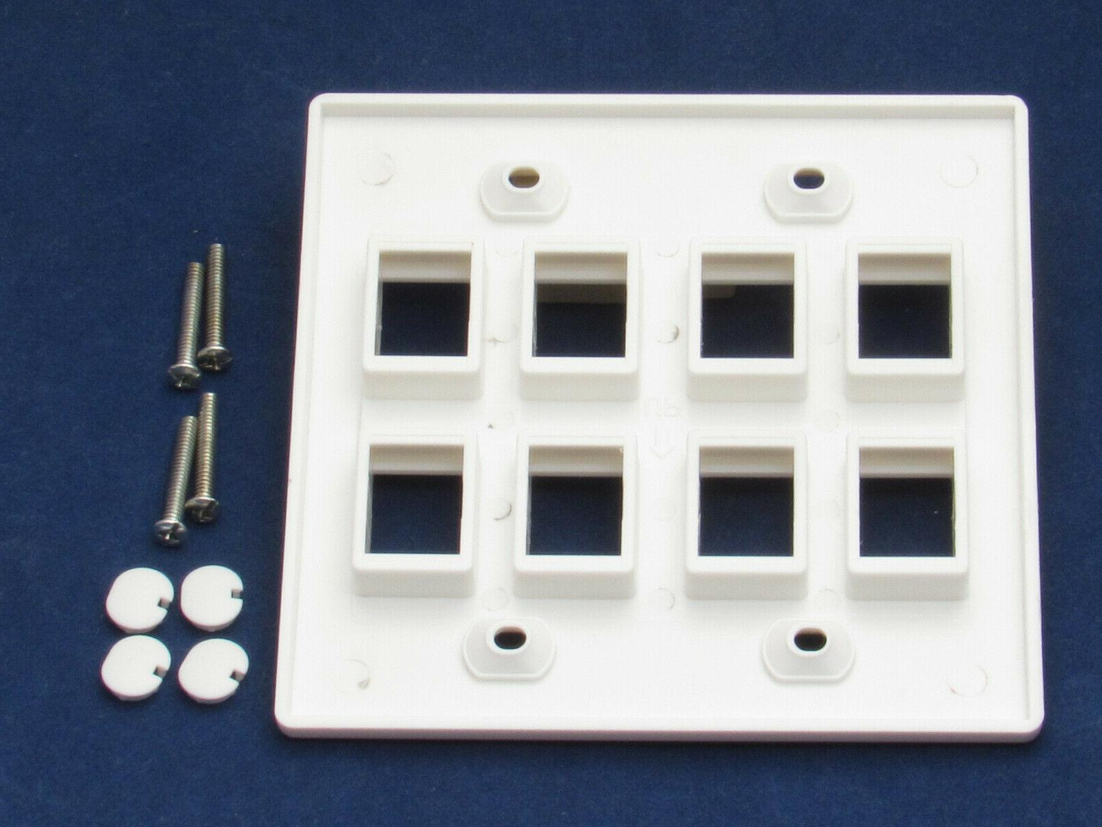 8 Port Keystone Network White
