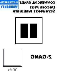 Leviton 80309-SW Wallplate 2-Gang Decora Screwless Standard