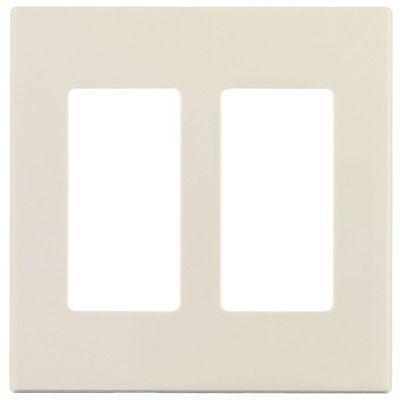Leviton 80309-T Decora Plus Screwless Wall Plate, 2 Gang, Li