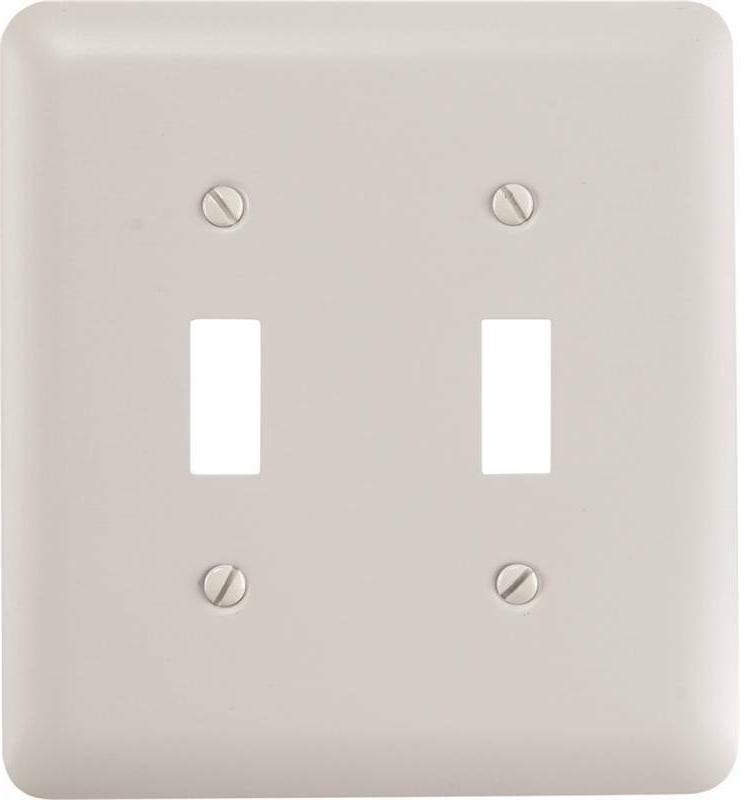 Amertac 935TTW 2 Toggle Wallplate, White