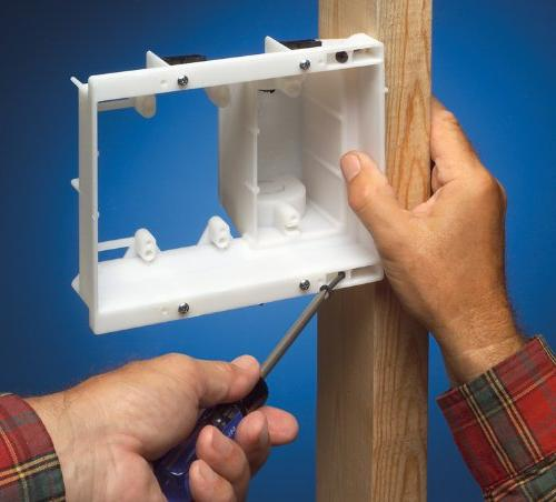 Arlington TV Recessed Outlet Wall Kit, 3-Gang, White,
