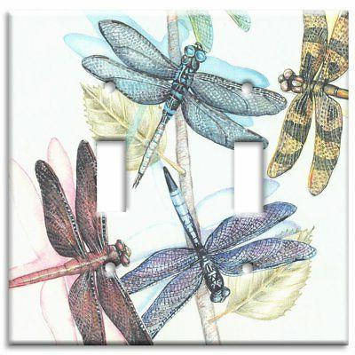 Art Plates - Dragonflies Switch Plate - Double Toggle