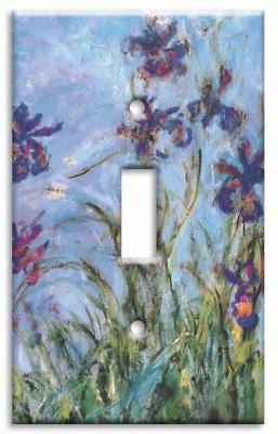 Art Plates - Monet: Irises Switch Plate - Single Toggle