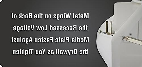 Datacomm 45-0031-WH Recessed Voltage Duplex Receptacle,