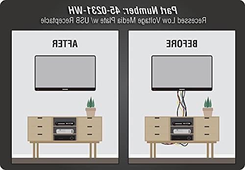 Datacomm 45-0231-WH USB Recessed Media Duplex Receptacle & 4.0 Amp White