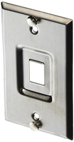 Leviton 4108W-1SP QuickPort Wall Jack, Stainless Recessed