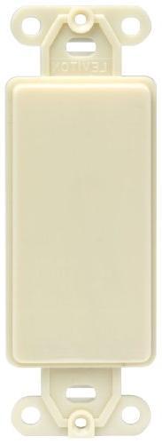 Leviton 80414-I Decora plastic adapter plate, Blank - No hol