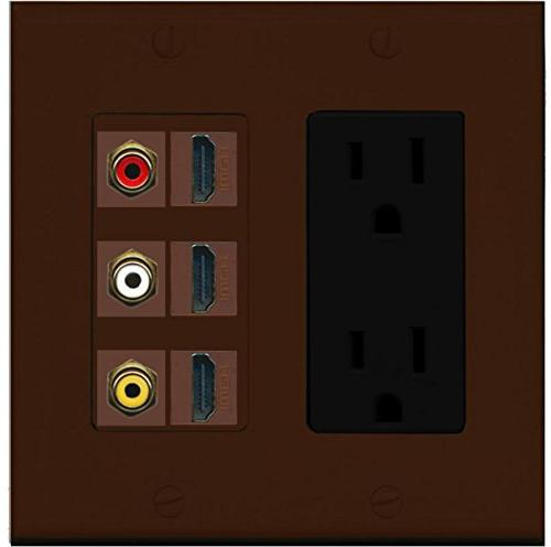 RiteAV - 2 x 15 Amp 125V Power Outlet 3 x HDMI and 3 x RCA P
