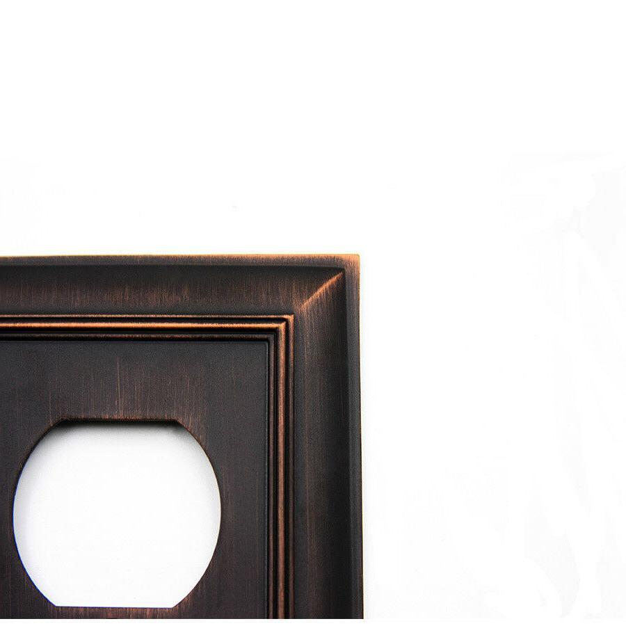 allen 1-Gang bronze Single Round Wall Plate