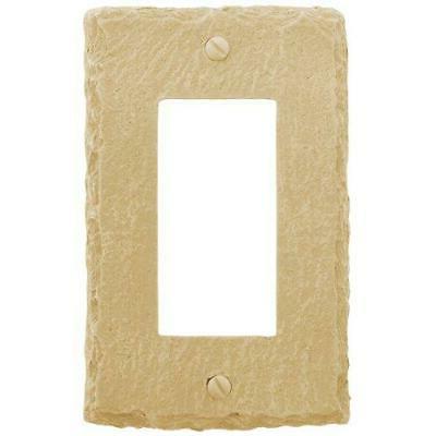 amerelle faux slate single rocker resin wallplate
