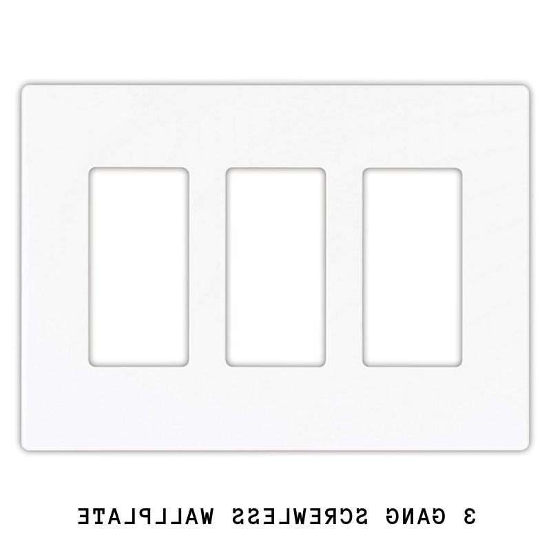 DECORA PLUG SWITCH WALL COVER PLATE 1 4 WHITE