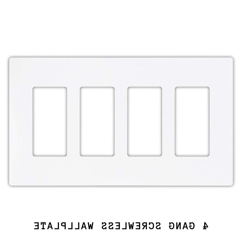 DECORA GFI PLUG WALL SCREWLESS PLASTIC COVER PLATE 1 2 4 GANG WHITE