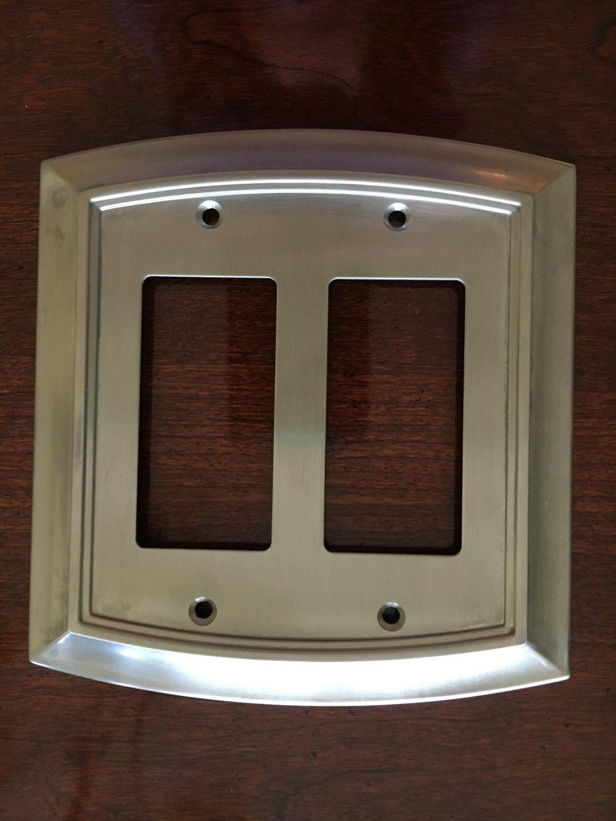 arched double decorator satin nickel outlet wall