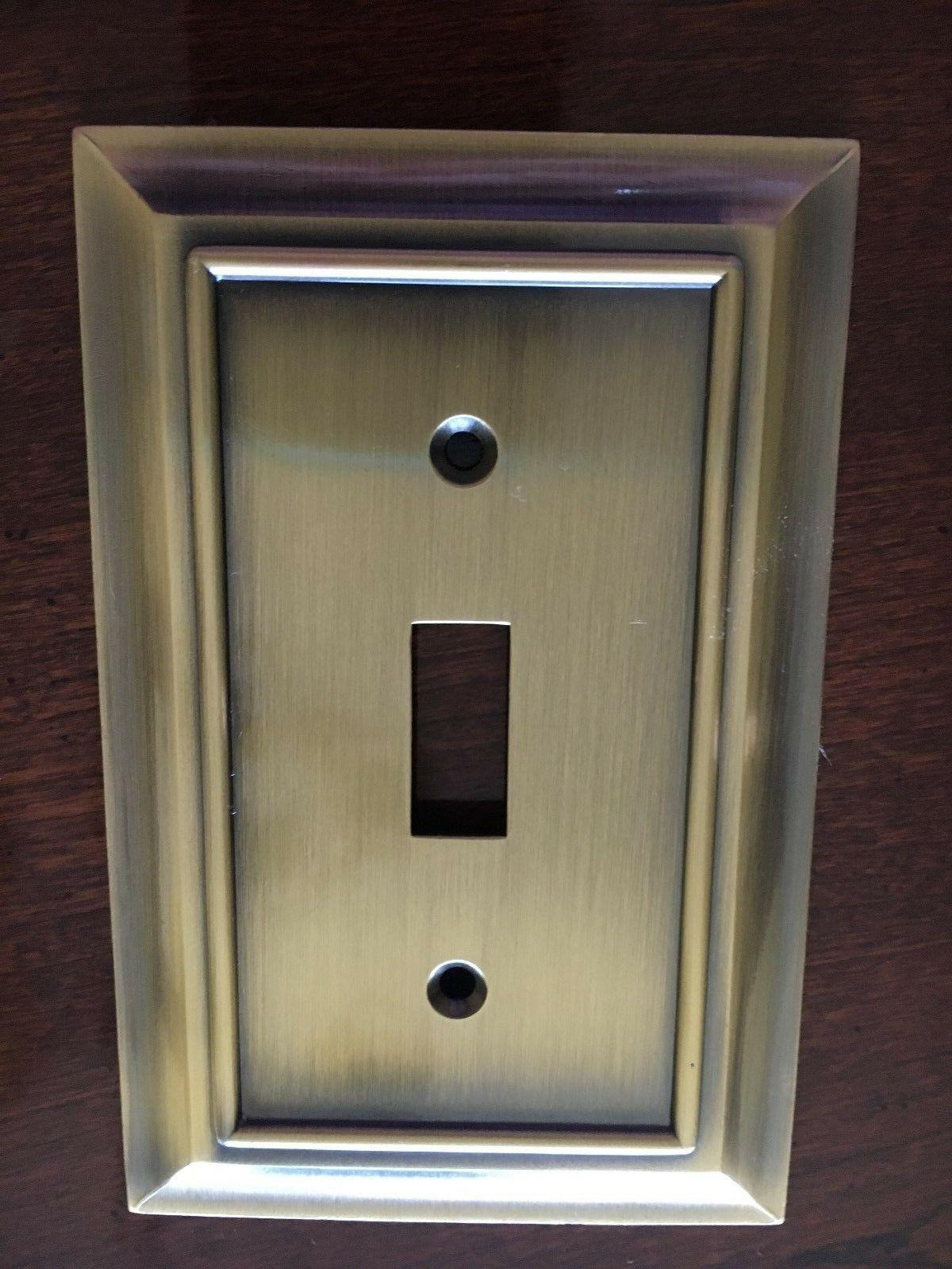 architectural single switch toggle wall plate antique